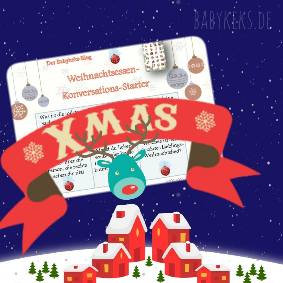 Lustiges Weihnachtsessen.Weihnachtsessen Konversations Starter Babykeks