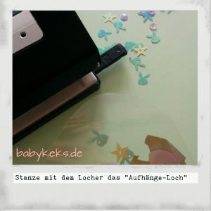 Babykeks .de Oster-Eier-Deko Stanze das Aufhängeloch aus
