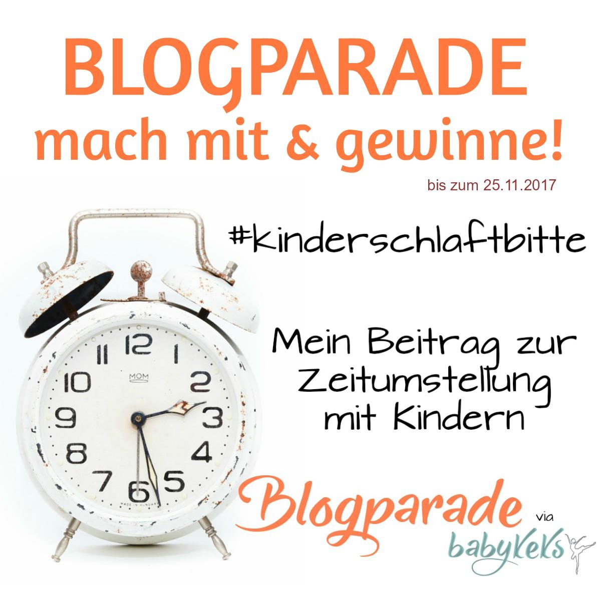 Blogparade zur Zeitumstellung auf babykeks.de