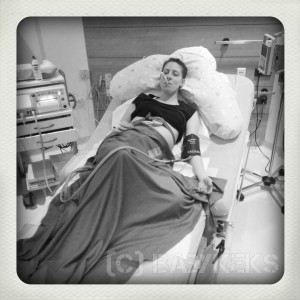 CTG, Fieberthermometer und Blutdruckmessgerät zum Auftakt der Geburt...