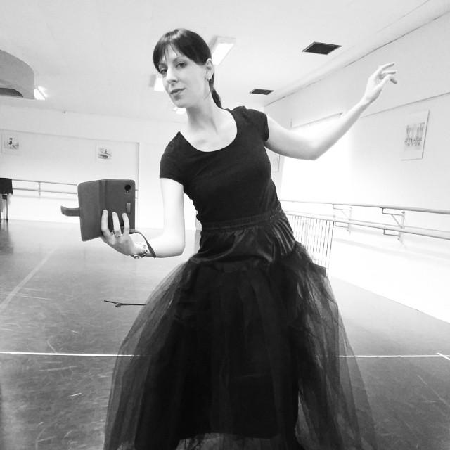 """Ballett im 7. Monat ;-) Tutu geht hinten leider nicht mehr zu *hihi""""..."""