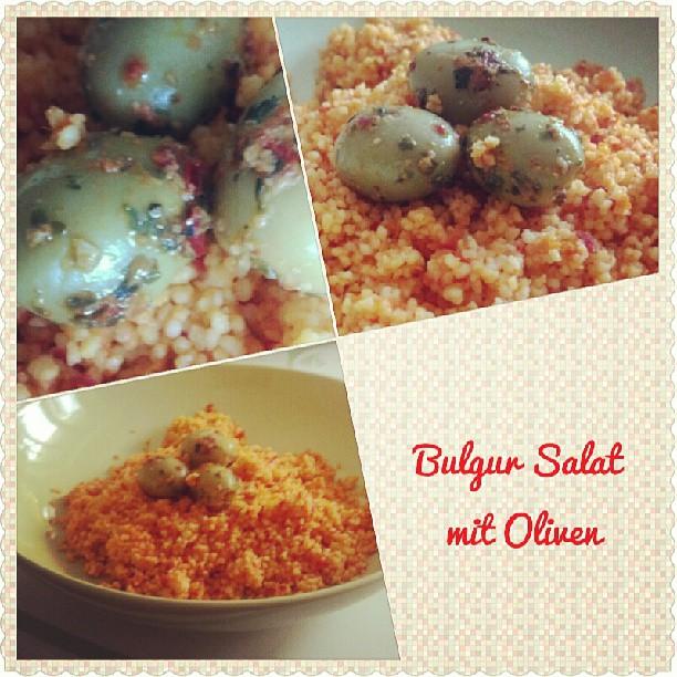 Bulgur Salat mit Oliven