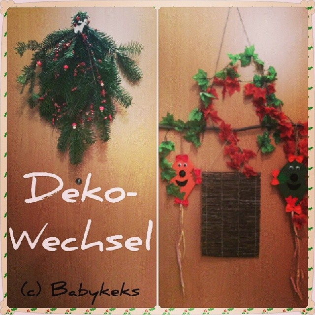 Endlich die Tür-Deko gewechselt... Wurde auch Zeit...
