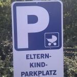Eltern-(Klein)kind-Parkplatz!