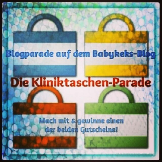 """Die #1 Blog-Parade auf dem Babykeks-Blog. Mach mit beim Thema: """"Kliniktasche"""" & gewinne mit etwas Glück einen der Gutscheine. Ich freue mich über jeden eurer Artikel!"""