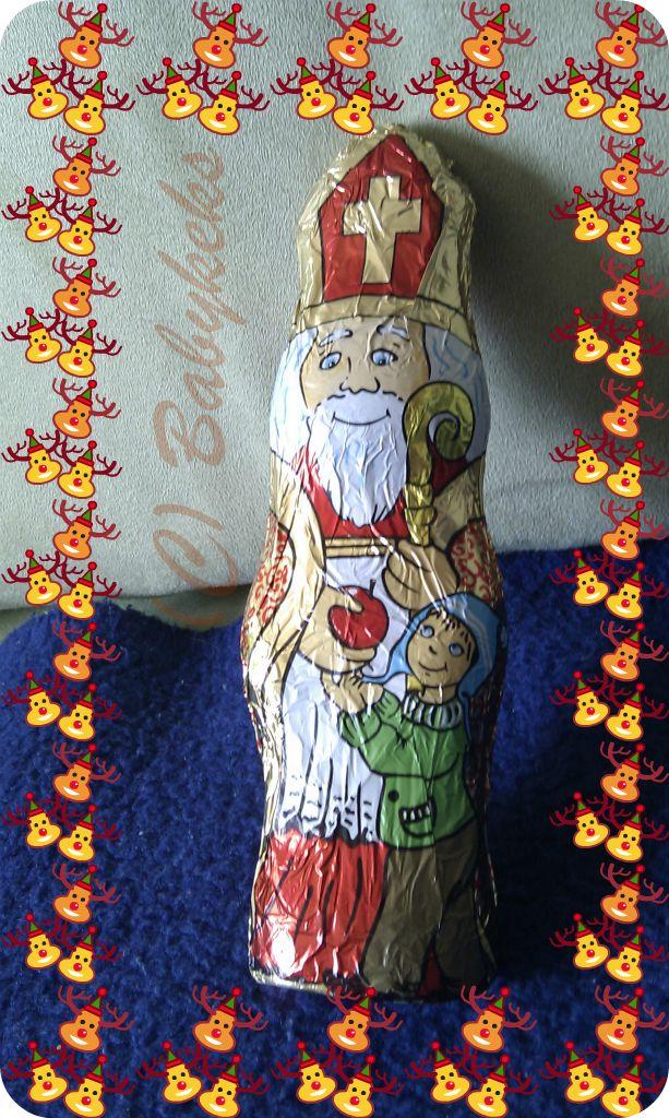 Ein echter Bischof Nikolaus aus Schokolade :-)