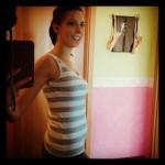 54 Tage nach Babykrümels Geburt :-) Ich sag nur: Pilates, Baby! [Damals gepostet via Instagram]