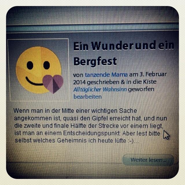 """Heute wird ein Geheimnis gelüftet. """"Ein Wunder & ein Bergfest"""" auf dem Babykeks-Blog"""